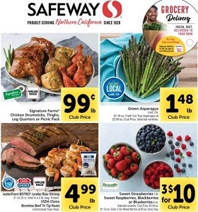 Safeway Weekly Circular April 21 - April 27, 2021. Green Asparagus