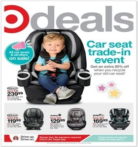 Target Weekly Ad April 4 - April 10, 2021. Car Seats & Strollers on Sale!
