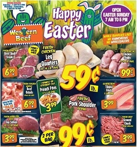 Western Beef Weekly Ad April 1 - April 7, 2021. Happy Easter!
