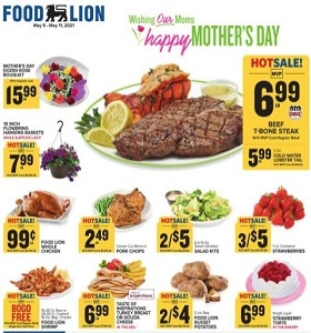Food Lion Weekly Ad May 5 - May 11, 2021. Happy Mother's Day!