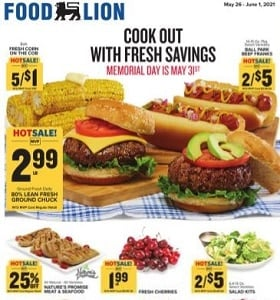 Food Lion Weekly Ad May 26 - June 1, 2021. Cook Out With Fresh Savings!