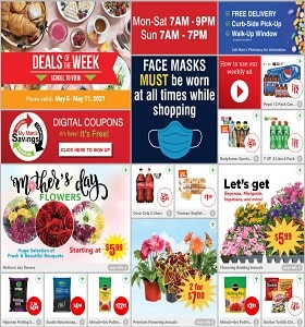 Marc's Weekly Circular May 5 - May 11, 2021. Celebrate Mother's Day with Flowers!