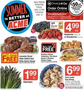 Acme Weekly Ad June 4 - June 10, 2021. Summer Is Better!