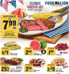 Food Lion Weekly Ad June 30 - July 6, 2021. Celebrate with Savings!