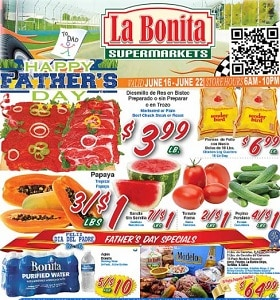 La Bonita Supermarkets Weekly Ad June 16 - June 22, 2021. Father's Day Offers!
