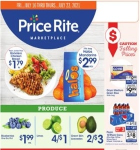 Price Rite Weekly Ad July 16 - July 22, 2021. Falling Prices!