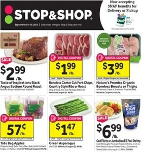 Stop & Shop Weekly Ad September 24 - September 30, 2021. Stock Up & Save!