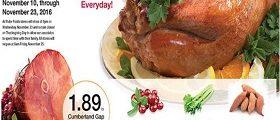 Ruler Foods Circular Ad November 10 - November 23, 2016. Happy Thanksgiving!
