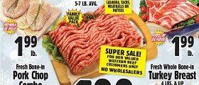 Western Beef Weekly Ad November 5 - November 11, 2019. Fresh Boneless Breast Chicken Cutlet