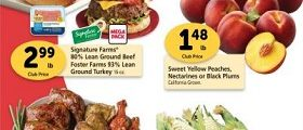 Safeway Weekly Ad August 19 - August 25, 2020. Foster Farms 93% Lean Ground Turkey