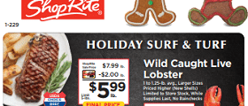 ShopRite Weekly Ad November 29 - December 5, 2020. Holiday Surf & Turf!