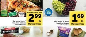 Safeway Weekly Ad October 6 - October 12, 2021. Signature Farms Boneless Skinless Chicken Breasts